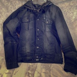 Obey Hooded Denim Jacket